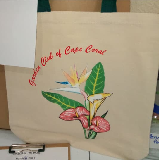 Tote Bags with Garden Club of Cape Coral Logo