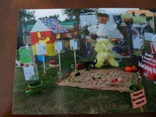 Photo of Scarecrow in the Park display by the Garden Club of Cape Coral